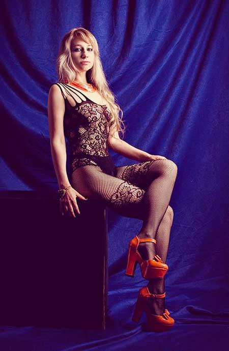 Heiße Netzstrumpfhosen für die Dame