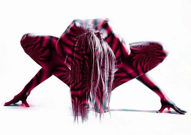Erotik - Pose - Dildo mit Saugfuß