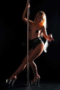 Striptease an der Stange