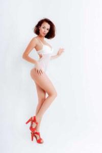 Weißer erotischer Body
