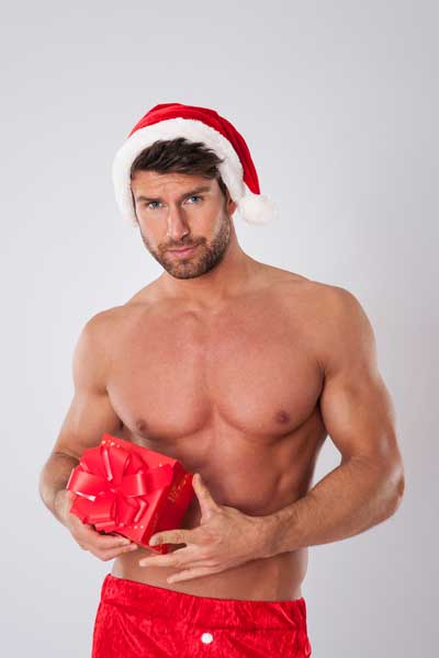 Nikolaus Mann mit Sexy Geschenk