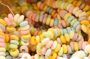 Zuckerperlen - der Stoff für essbare Unterwäsche