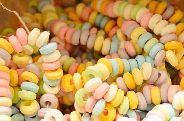 Zuckerperlen - der Stoff aus dem essbare Unterwäsche für erotische Stunden ist